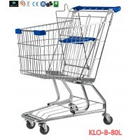 Wholesale American Style Elderly / Disabled Shopping Trolley , Metal Supermarket Carts from china suppliers