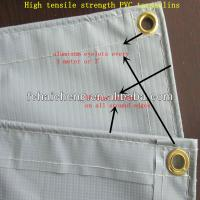 Wholesale High quailty PVC tarpaulins with aluminum eyelets and PP rope from china suppliers
