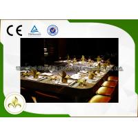 Wholesale 10 Seat Rectangle Electric / Induction Teppanyaki Grill Table With Ventilation / Precipitator from china suppliers