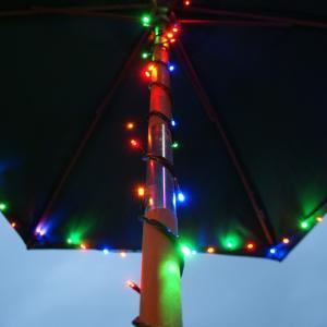 China 300LED RGB Solar LED Fairy string Lights for garden umbrella decoration on sale