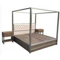 Wholesale Metal Frame Queen Bedroom Furniture Sets King Bed With Light Oak Wood from china suppliers