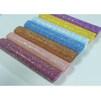 Wholesale Chunky Glitter Fabric Mini Roll  Grade 3 Chunky Glitter Vinyl Fabric Roll For Wallpaper,Table Runner,Hair Bow DIY from china suppliers
