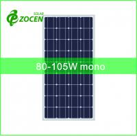 Wholesale 36cells 125*125mm 80-105W Monocrystalline Solar Panels for Portable Solar System from china suppliers