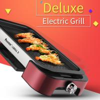 China Electric BBQ grill with Non-stick Surface Korean Griddle Indoor and Outdoor  FST-53B red with  aluminium alloy on sale
