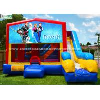 Wholesale Colorful 7 In 1 Frozen Inflatable Bouncy House With Slide N Obstacles from china suppliers