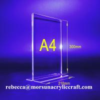 Wholesale Wholesale Desktop A4 Acrylic MENU Display Holder Plexiglass Sign Holder from china suppliers