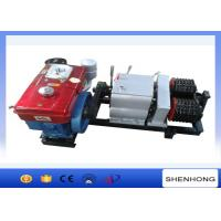 Wholesale Diesel Engine Pole Setting Double Capstan Winch 5 Ton 230mm Bottom Diameter from china suppliers