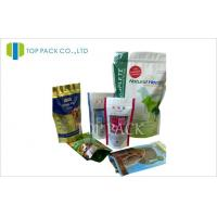 Wholesale Gravure Printed Pet Food Packaging , Stand Up Pouch With Zipper Moisture Proof from china suppliers
