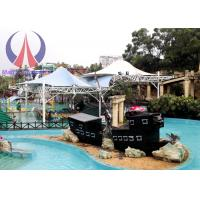 Quality Colorful Fabric Tensioned Membrane Structures For Aqua Park Shade Metal Frame for sale