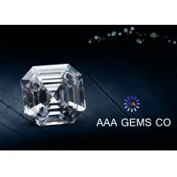 Wholesale 7 MM Supper White Diamond Moissanite , Asscher Cut Moissanite from china suppliers