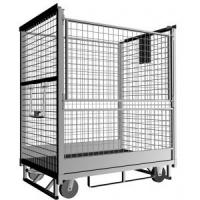 Quality Iron Wire Roll Container Collapsible Rolling Cart with plastic powdered 500-1200kgs for sale