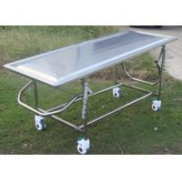 Wholesale Adjustable Mortuary Equipment Embalming Operating Autopsy Table of Stainless Steel from china suppliers