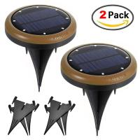 Wholesale 2 Pack Solar Outdoor Pathway Lights Deck Nightlight Path Yard  Above Ground Walkway from china suppliers