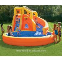 Wholesale kids Inflatable Water Parks , Inflatable Swimming Pool With Slide from china suppliers