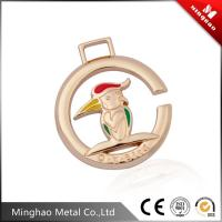 Wholesale Customized round shape metal animals patter logo plate,zinc alloy metal plate tag from china suppliers