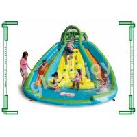 Wholesale Water Proof PVC Kids Inflatable Slide With Climbing Wall / Big Pool from china suppliers