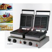 Wholesale Electric double-end for waffle maker , square waffle machine, waffle grill/ waffle oven/ Snack machine from china suppliers