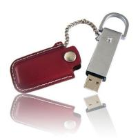 Wholesale cheap mini leather USB 2.0 Flash disk 128MB - 32GB with  embossed or printing logo from china suppliers