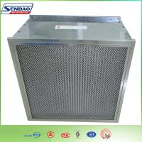 Quality Dust Holding Capacity Multilayer Synthetic Pocket Air Filter Material , Disposable for sale
