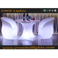 Wholesale Glowing LED Light Chair , Cordless Lounge Chair Set Rechargeable For Home / Garden Decoration from china suppliers
