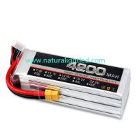 Wholesale 25C 4200mah RC lipo battery for Large fixed-wing, helicopter, car models, electrical and motor within 100A from china suppliers