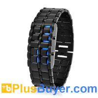 Wholesale Dark Samurai - Japanese-inspired LED Watch (Burning Blue LED) from china suppliers