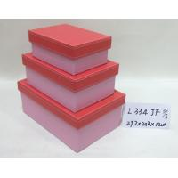 Wholesale Pink Small Rectangular Handmade Cardboard Boxes Base And Lid For Gift Storage from china suppliers