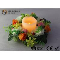 Wholesale Flameless Advent Pillar Candles , Led Remote Control Candles Dripping Finish from china suppliers