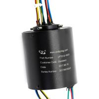 Quality 18 Circuits Compact Through Bore Slip Ring 5A Per Wire 12mm ID Bore For Production Line Device for sale