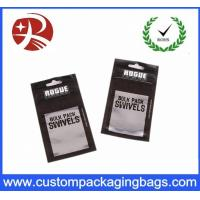 Wholesale Metallic Black Printing OPP Zipper poly mailer bags With Bottom Gusset , Waterproof from china suppliers