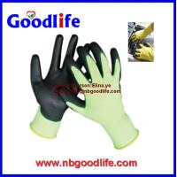 Buy cheap Nylon/polyester liner ESD PU gloves coated on palm from wholesalers