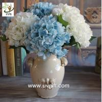 Wholesale UVG FHY25 decoration of houses interior wholesale artificial hydrangea flowers for parties from china suppliers