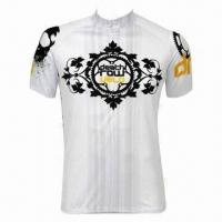 Wholesale Men's Cycling Jerseys, Does Not Shrink, Comfortable to Wear, OEM Orders Accepted from china suppliers