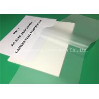 Quality Matte Lamination Film A4 Laminating Pouches 80 Micron 100 Pcs Per Pack for sale