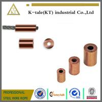 Wholesale Round Copper Ferrule End Stop for Crimping Wire Rope from china suppliers
