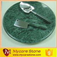 Wholesale natural new polished green marble serving tray for tableware from china suppliers