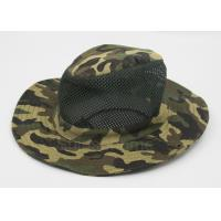 Buy cheap Cotton Mesh Camo Fishing Bucket Hats For Men , Customized Label from wholesalers