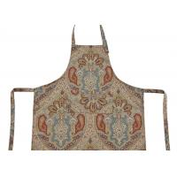 Wholesale Bib Type Flower Printed Cotton Canvas Material Women Kitchen Apron With Front Pocket from china suppliers