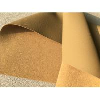 Wholesale Beige Leather Auto Upholstery Material , Flocking Car Seat Upholstery Fabric from china suppliers