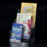 Wholesale A4 4 pocket  acrylic brochure holder,LEAFLET STANDS PLASTIC HOLDER ACRYLIC FLYER table leaflet holder from china suppliers