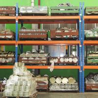 Wholesale industrial heavy duty storage shelves with wood board / cargo cage / pallet from china suppliers