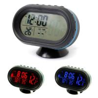 Wholesale 4 In 1 LCD Digital Thermometer Voltmeter Voltage Meter Tester Monitor Luminous Clock from china suppliers