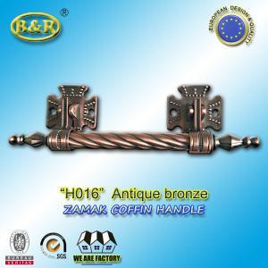 Quality Long Metal Coffin Barref H016 Coffin Handles Antique Bronze 30*7.5 Cm for sale