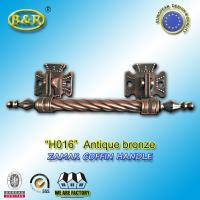 Wholesale Long Metal Coffin Barref H016 Coffin Handles Antique Bronze 30*7.5 Cm herrajes para ataudes from china suppliers