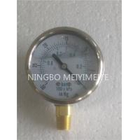 Wholesale Lower Glycerine Vacuum Pressure Gauge 304 Stainless Steel Polished Case from china suppliers