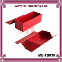Wholesale Red wine glass flatten paper box, single bottle wine folding magnet box ME-FD035 from china suppliers