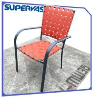 Wholesale Furniture Outdoor Patio Chairs Cross Weave Garden Patio Strap Dining Banquet Chair from china suppliers
