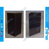 Wholesale Customized Black Simple Commercial Display Cabinets / Open Corner Showcase from china suppliers