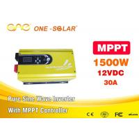 Wholesale 12v 220v Solar Energy Inverter / Pure Sine Wave Inverter 1500w 4ms Transfer Time from china suppliers