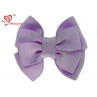 Wholesale Lovely Purple Grosgrain Ribbon large Girls Hair Bows For kids Hair Accessories from china suppliers